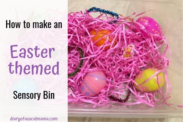 easter themed sensory bin