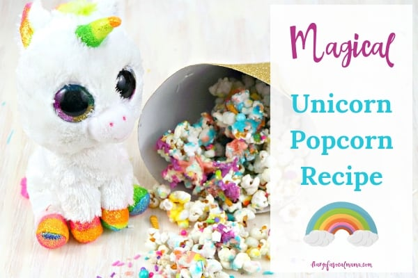 rainbow unicorn popcorn