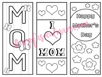 Mothers Day bookmarks printable
