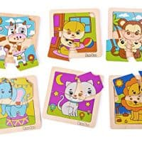 Wooden Animal Puzzle Set