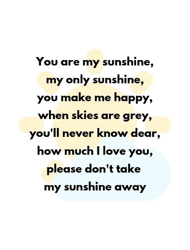 you are my sunshine lyrics