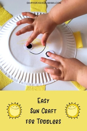 Sweet Sunshine Craft Easy Paper Plate Craft For Toddlers Diary Of