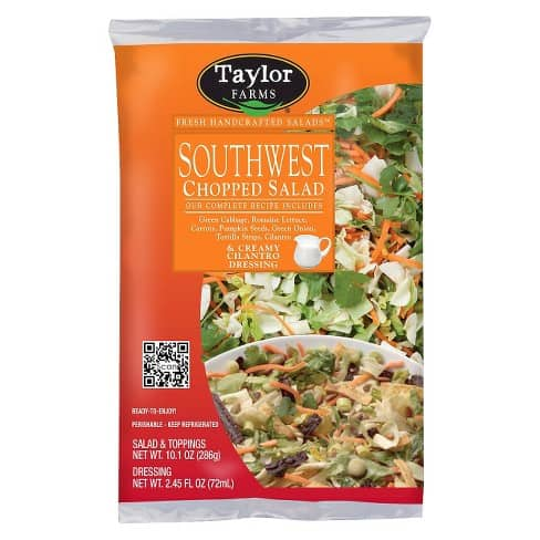 southwest salad kit meal idea