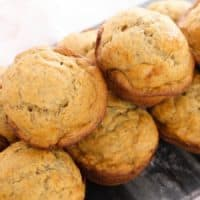 Healthy banana muffins for toddlers