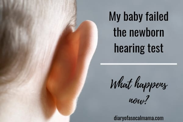 baby failed hearing test