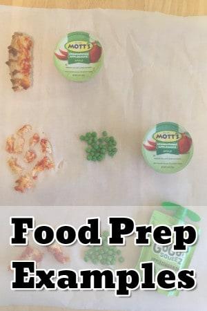 Food prep examples