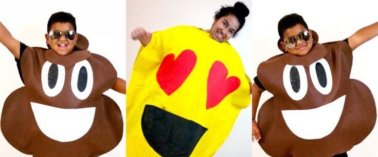 No Sew DIY Emoji Costumes