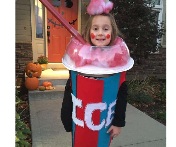 DIY Icee Halloween Costume