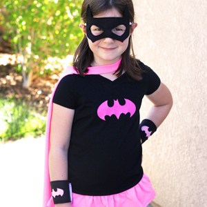 Easy Batgirl Costume from a T-Shirt
