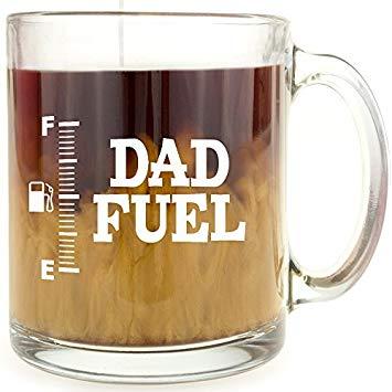 Dad Fuel - Glass Coffee Mug