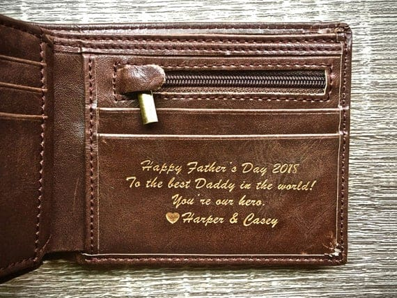 Personalized Men's Leather Wallet