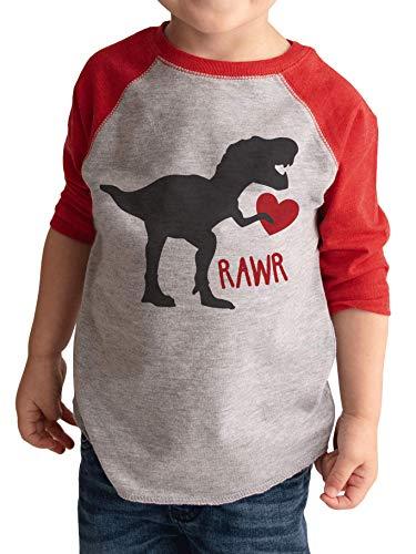 Kids Dinosaur Happy Valentine's Day Shirt