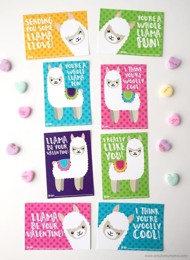 Free Printable Llama Valentines