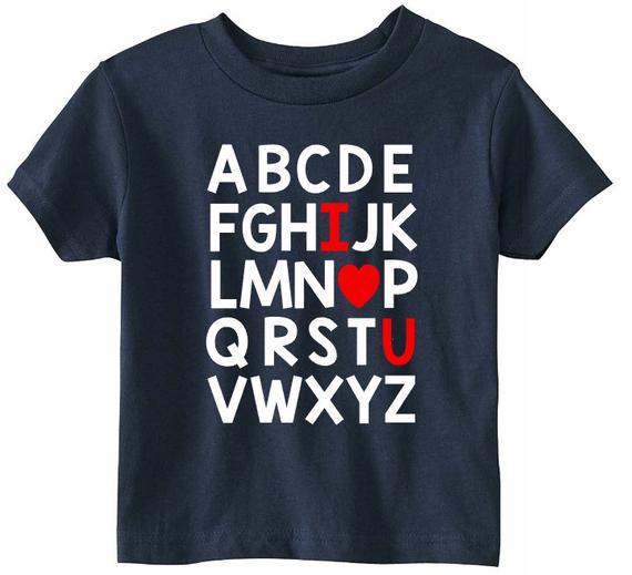 ABC I Love You Shirt