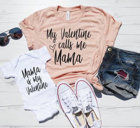 Mommy and Me Valentines Shirts