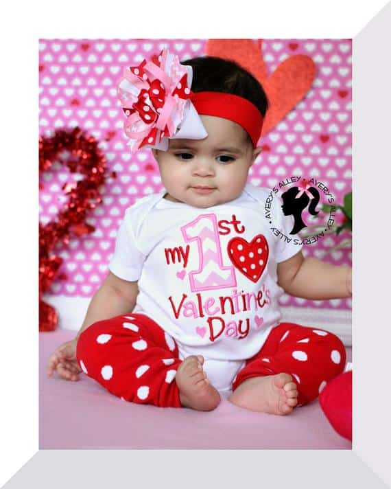 My 1st Valentine's Day top & bow