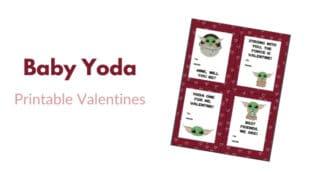 Baby Yoda Inspired Valentines {Printable}