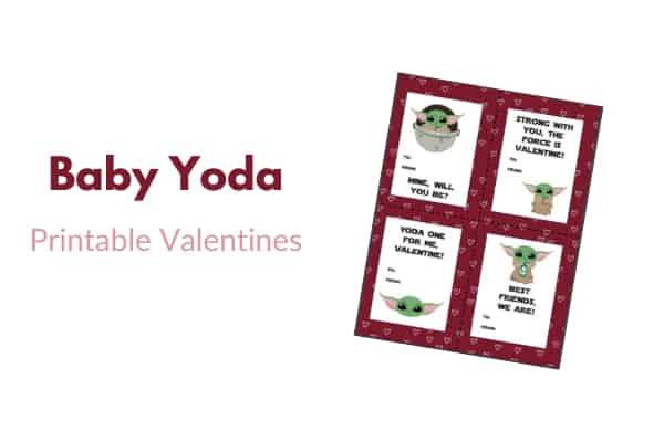 yoda printable valentines