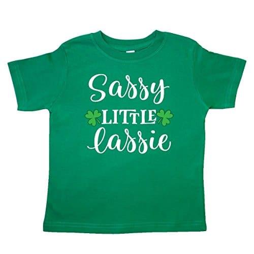 """Sassy Little Lassie"" girls St. Patrick's Day shirt"