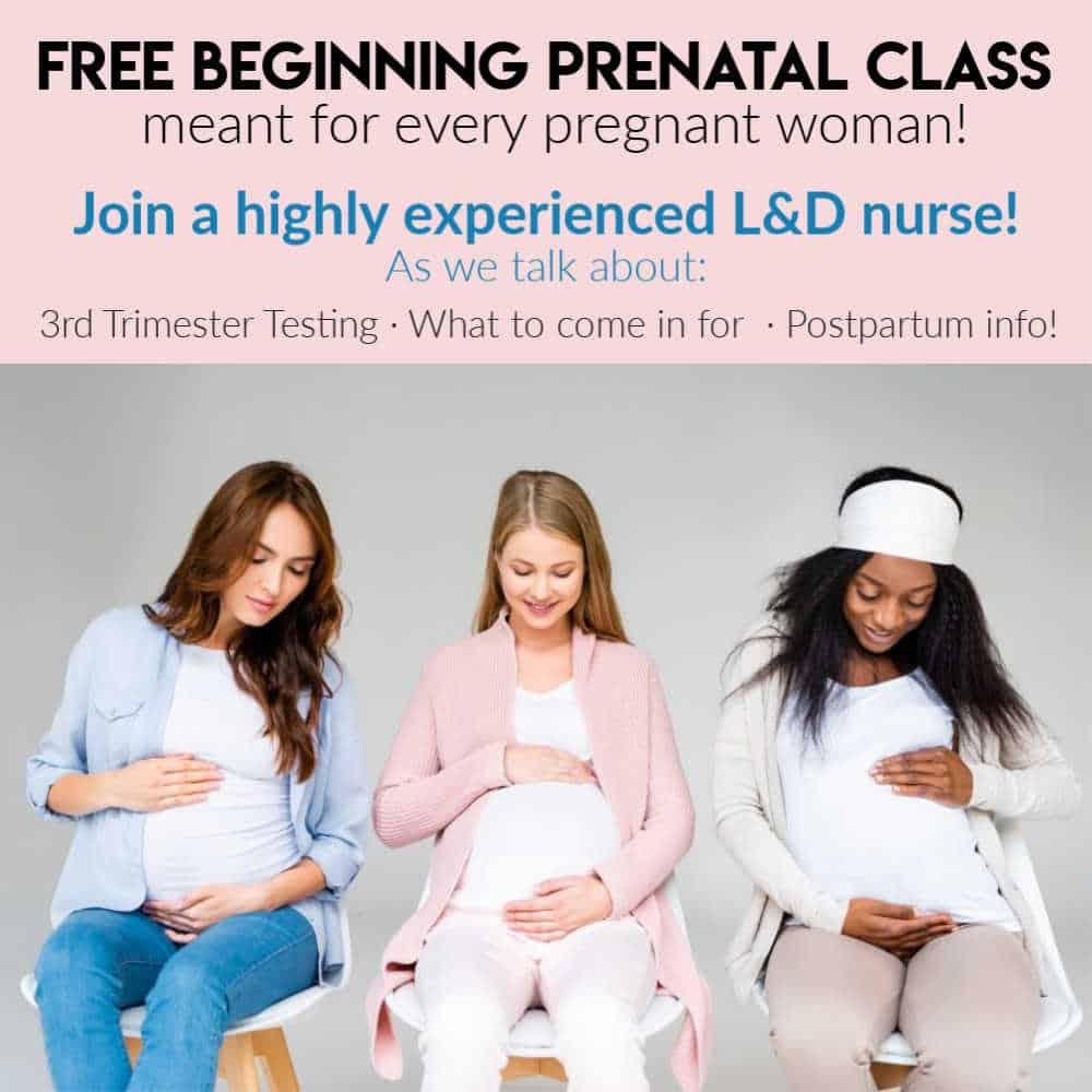free beginning prenatal class