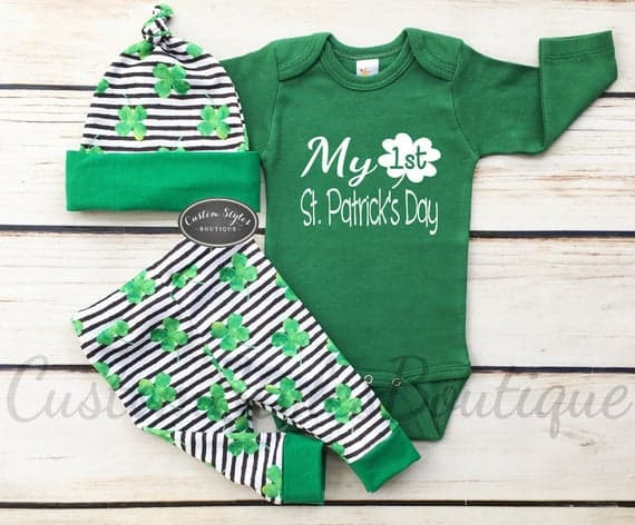 Baby Boys First St. Patrick's Day Outfit