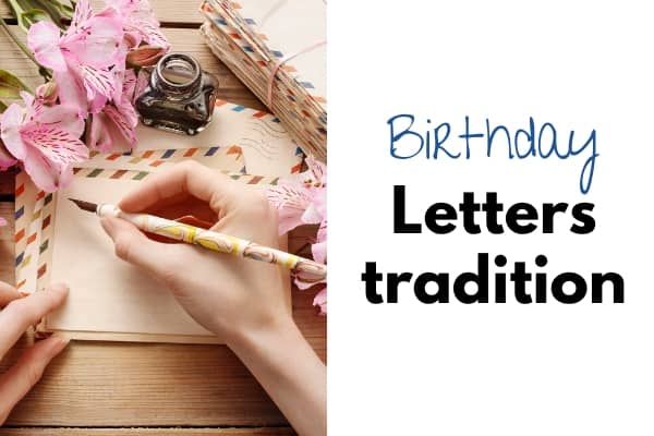 birthday letter tradition