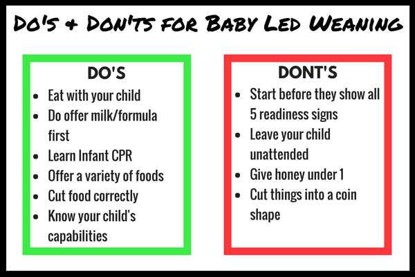 baby led weaning dos and don'ts