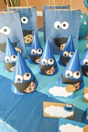 cookie monster party favors