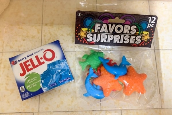 jello sensory bin supplies