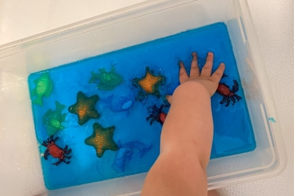 jello sensory play