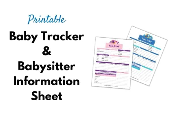 Baby tracker title and image on white background