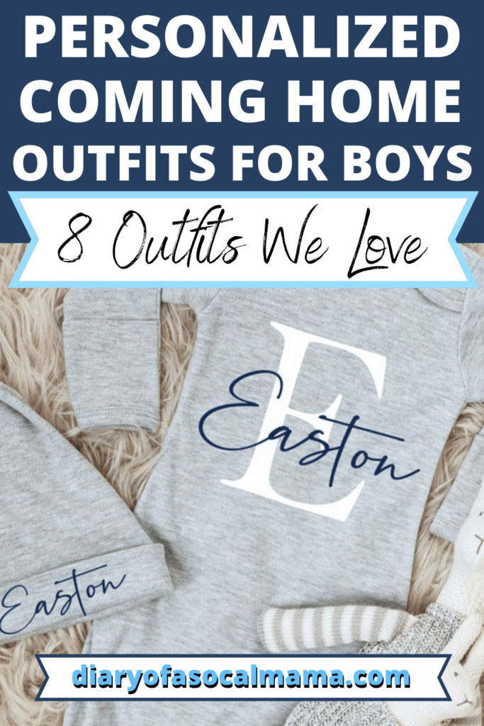 personalized baby boy outfits pin