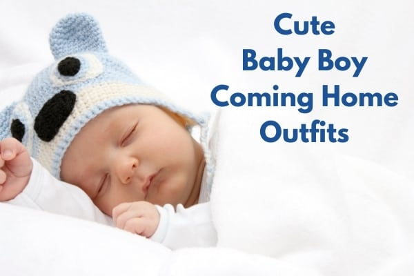 Baby boy coming home outfits title