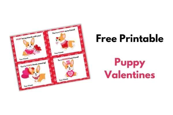 printable dog valentines