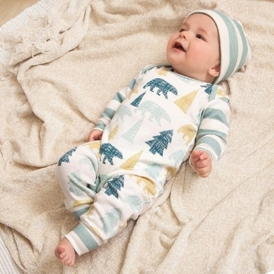 baby boy woodland outfit