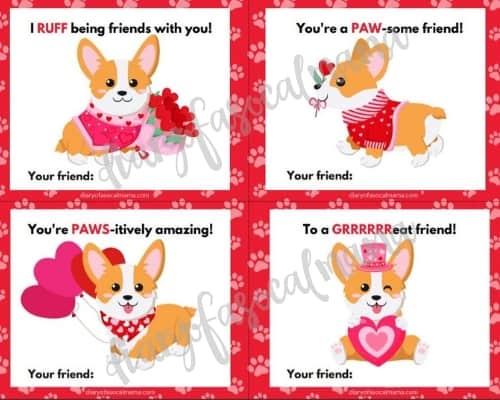 puppy valentine's day cards