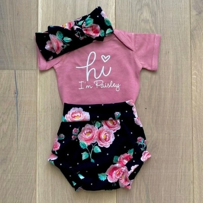 floral girl coming home outfit
