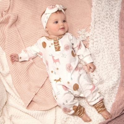 woodland infant girl outfit